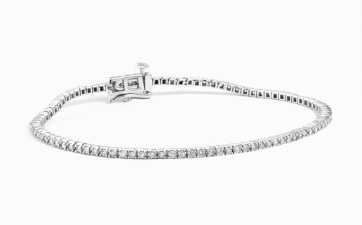 Tennis Bracelet of Diamonds in White Gold