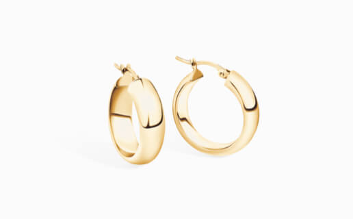 Gold Hoop Earrings at Michael Hill