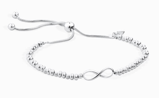 Sterling Silver infinity and bead bracelet at Michael Hill