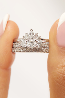 How to: Style Your Engagement Ring: Three-Stone