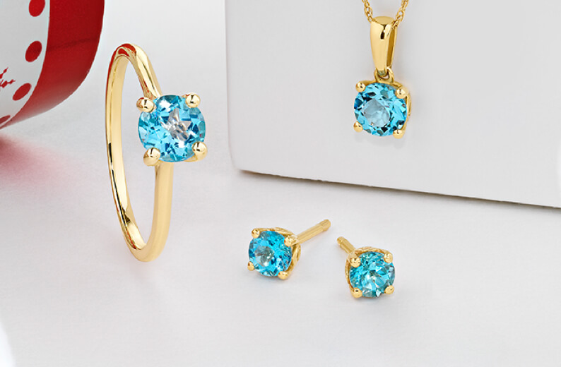 Blue Topaz Earring, Necklace and Ring set at Michael Hill