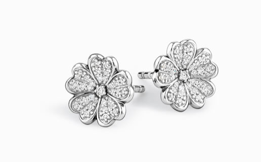 Sterling silver flower earrings at Michael Hill