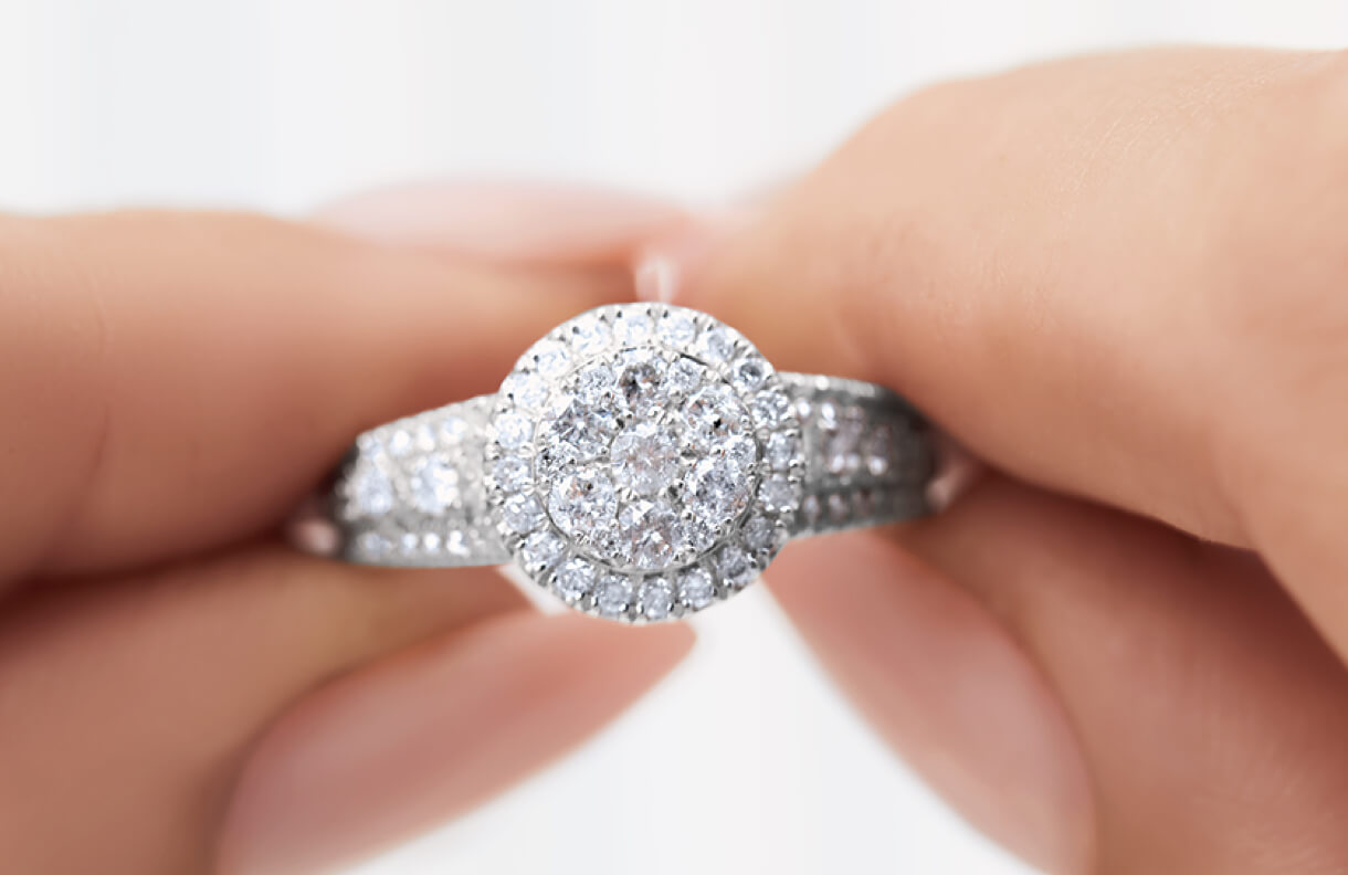 Maximum sparkle & impact with Cluster Ring at Michael Hill