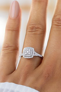Diamond Cluster Ring in White Gold at Michael Hill