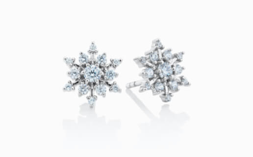 Cubic Zirconia Snowflake Earrings in Sterling Silver from Michael Hill