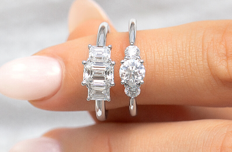Designer Bridal Rings in White Gold