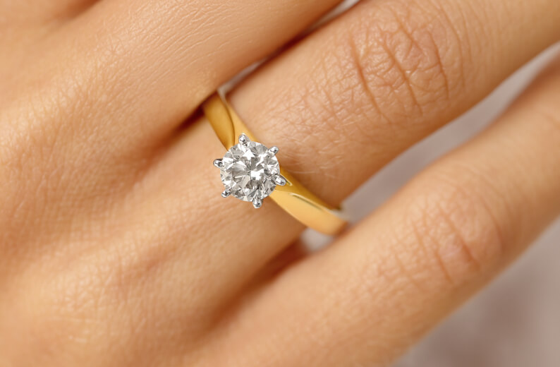 Diamond Solitaire in Yellow Gold ring at Michael Hill