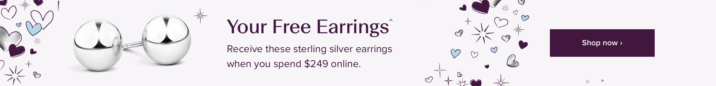 Sterling Silver Stud Earrings free with every online order over $249