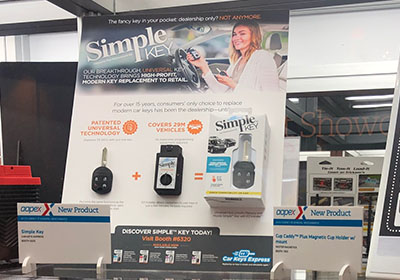 Car Keys Express launches Simple™ Key product line at AAPEX 2018.