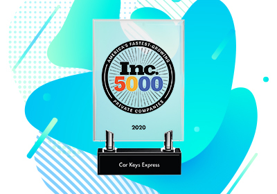 "Car Keys Express Wins Inc. Magazine's ""Inc. 5000"" Award"