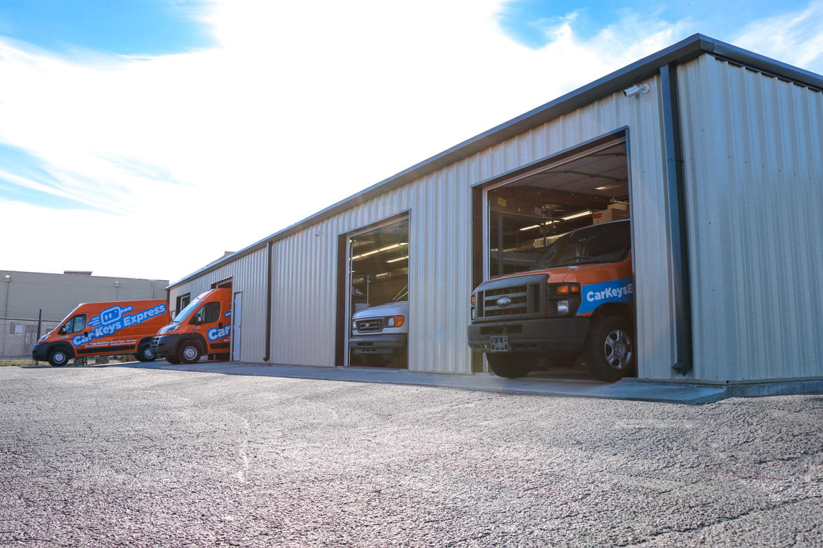 Car Keys Express builds service vehicle upfitting facility.