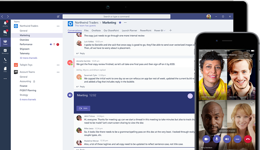 Video calling functionality in Microsoft Teams