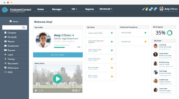 Employee portal in EmployeeConnect