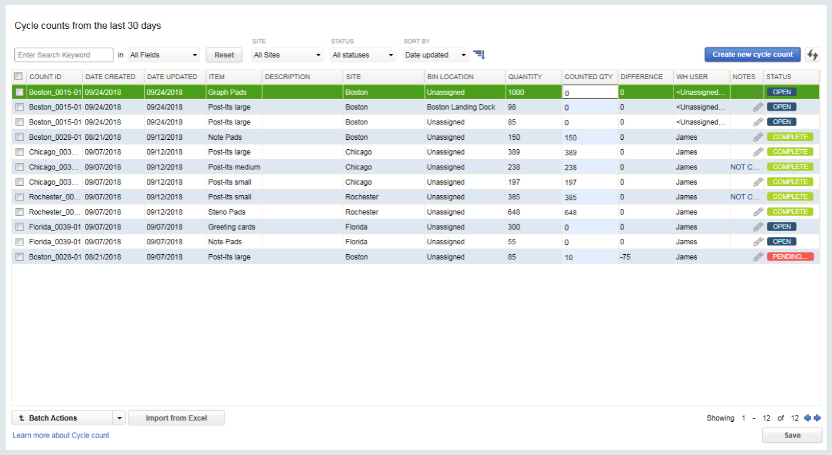 Order management in QuickBooks