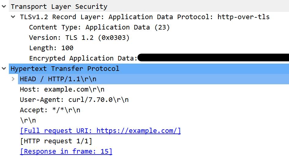 TLSレコード上のHTTP/1.1