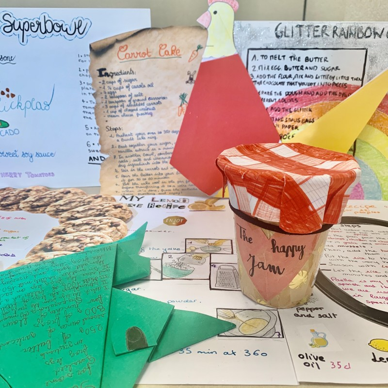 These recipes traveled 6,000 miles to us and arrived from the 10th grade Nativité Team of La Nativité Ensemble Scolaire in Aix-en-Provence, France!
