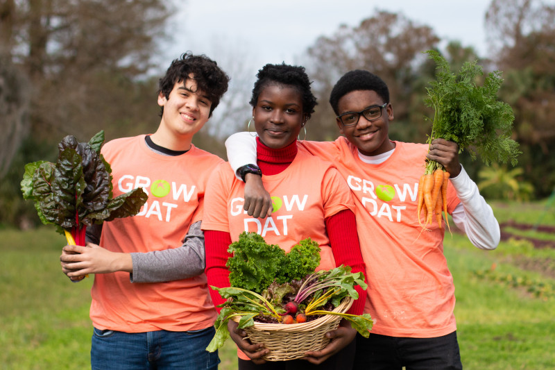 Grow Dat Youth Farm is partnering with Students Rebuild for this year's Hunger Challenge!