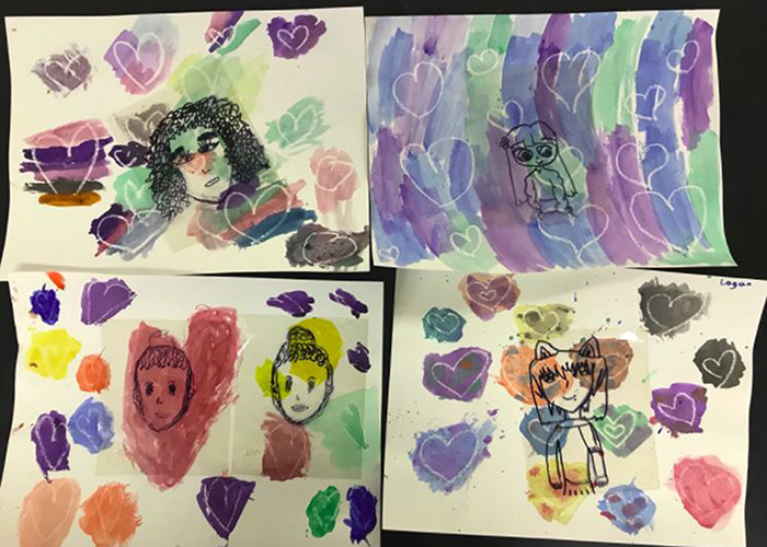Lots of love in the portraits by Elmwood Art Studio