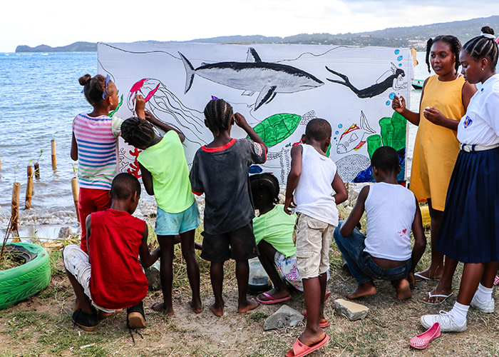 This photo was taken in Grenada during Reef Week. Through the Ocean Challenge, participants will be supporting similar work and projects in the Dominican Republic and The Bahamas.