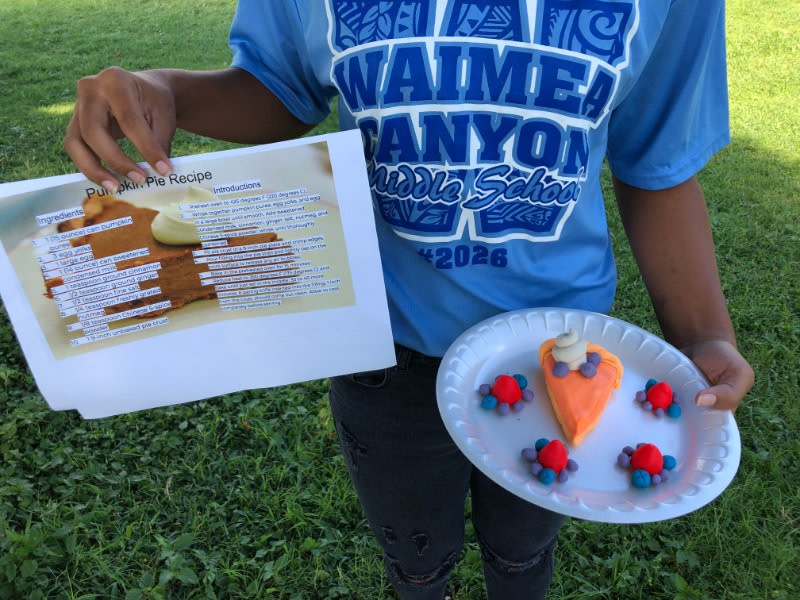 The Waimea Canyon Middle School in Waimea, Hawaii has created some amazing recipes and three dimensional food to match! Submitting art to the Challenge can be a journey in creativity.  What ideas do you have?