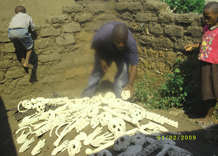 Bone-making with the Burundi Bones team.