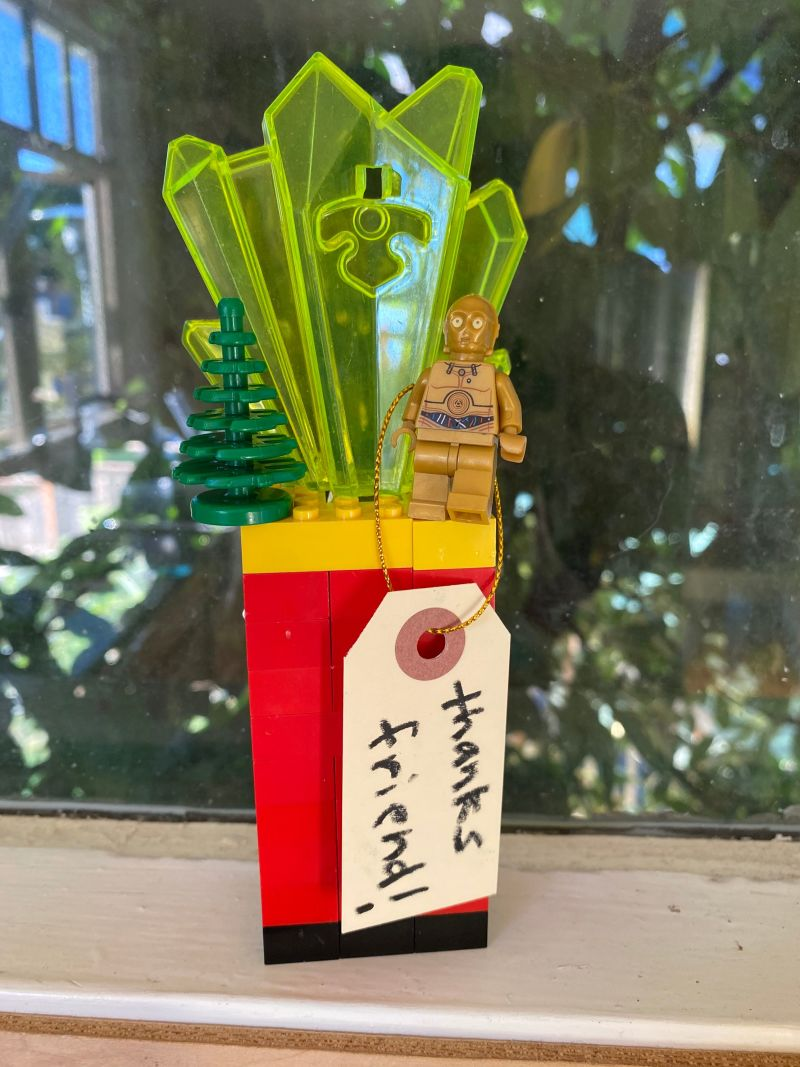 We are thrilled to see what else students create for this year! You can make a creative award out of materials found around the house. This one includes a prized lego figure!