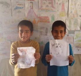Hamza and Mouawiya are excited about their new school!