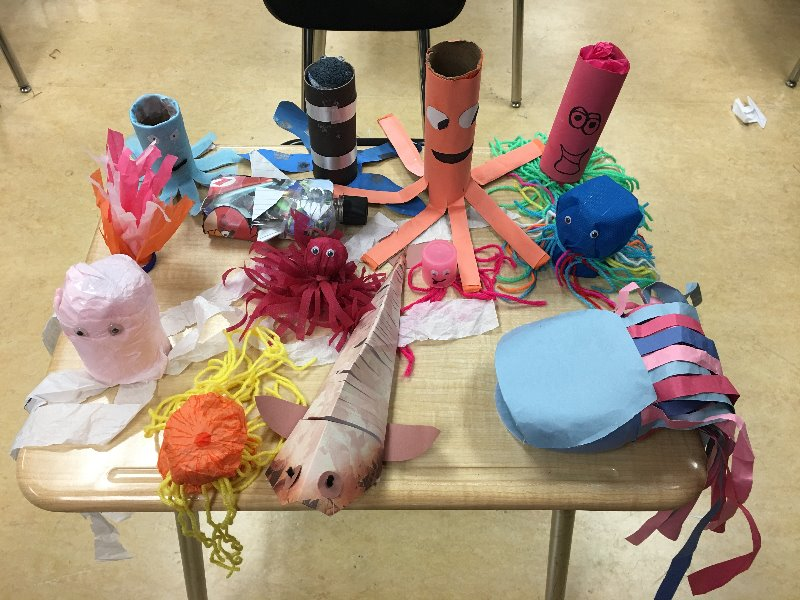 We love the diversity of sea creatures that our teams are making! The bio-diversity in our ocean is reflected in the creativity of the Amigos del Mundo team from Midwest City High in Oklahoma.