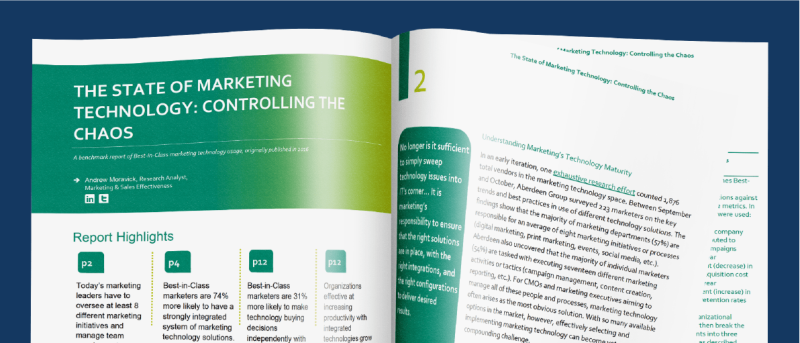 The State of Marketing technology eBook by Tray.io