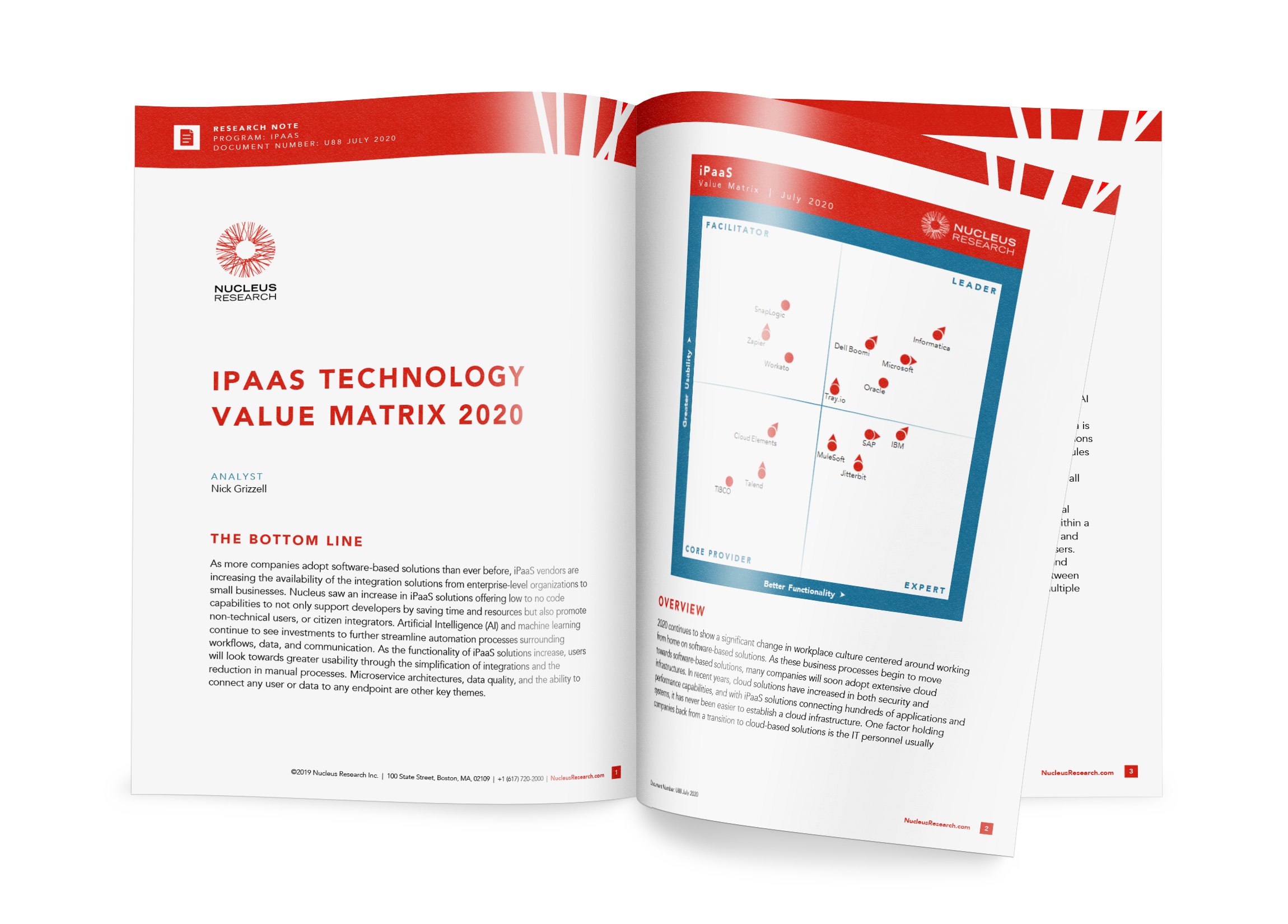 Nucleus Research 2020 Value Matrix