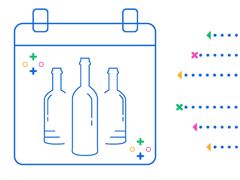 Virtual Wine Tasting Event - Landing Page Art