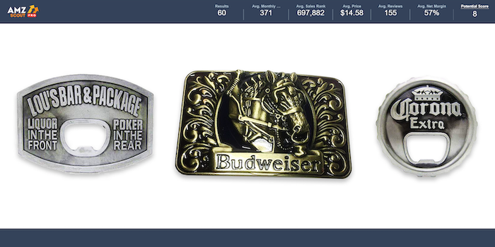 Cash is King Niche 1 Beer Buckle
