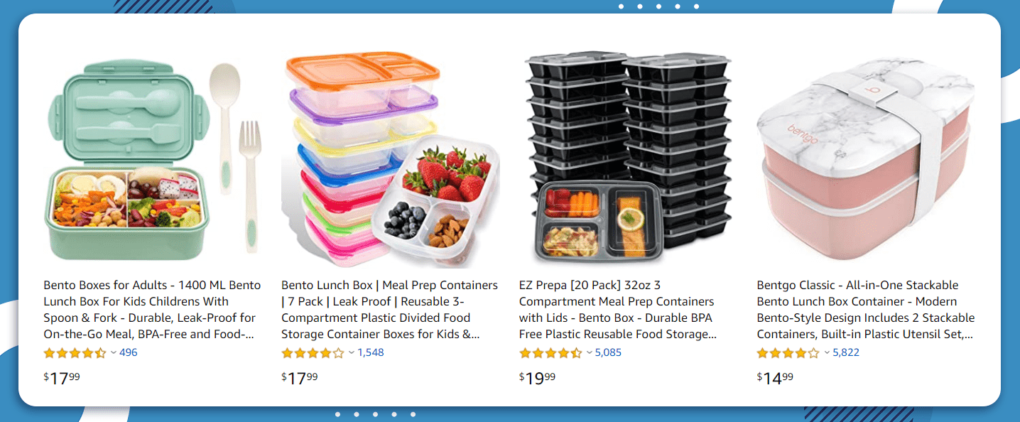 8 Best Products to sell on Amazon bento boxes