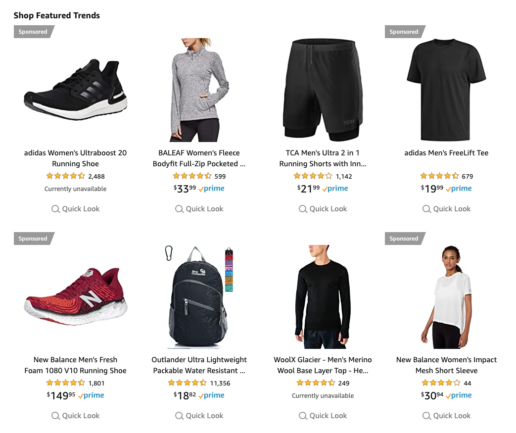 Use the Amazon trend report to find products