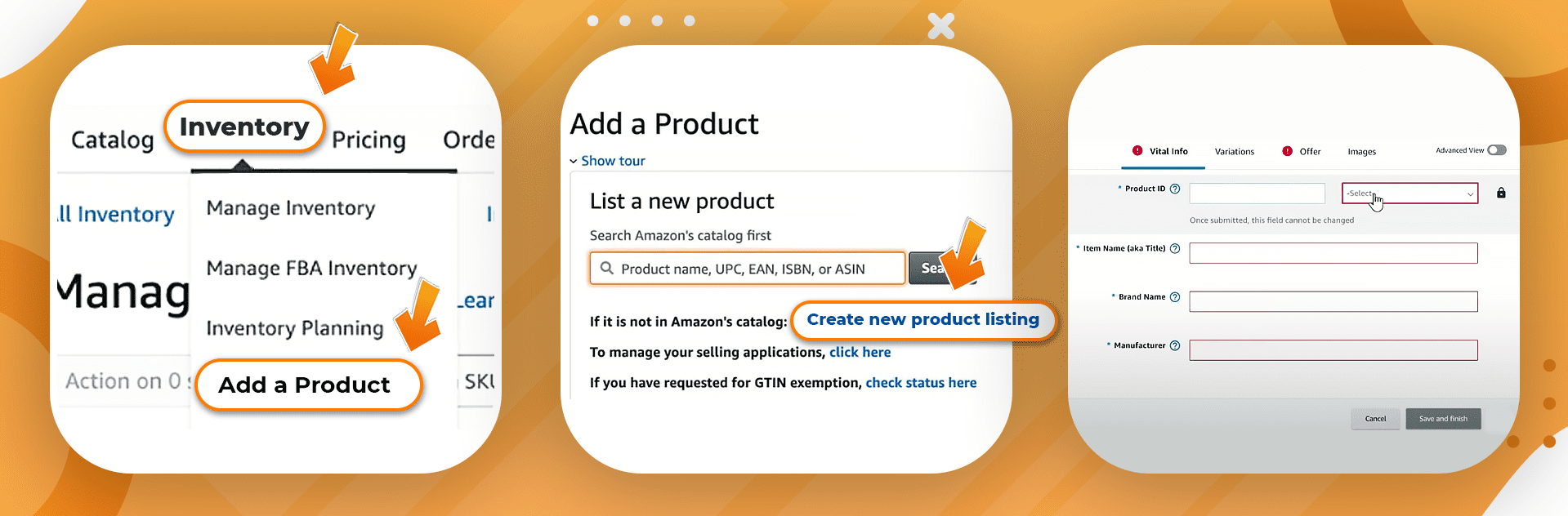 Amazon ASIN Add new product