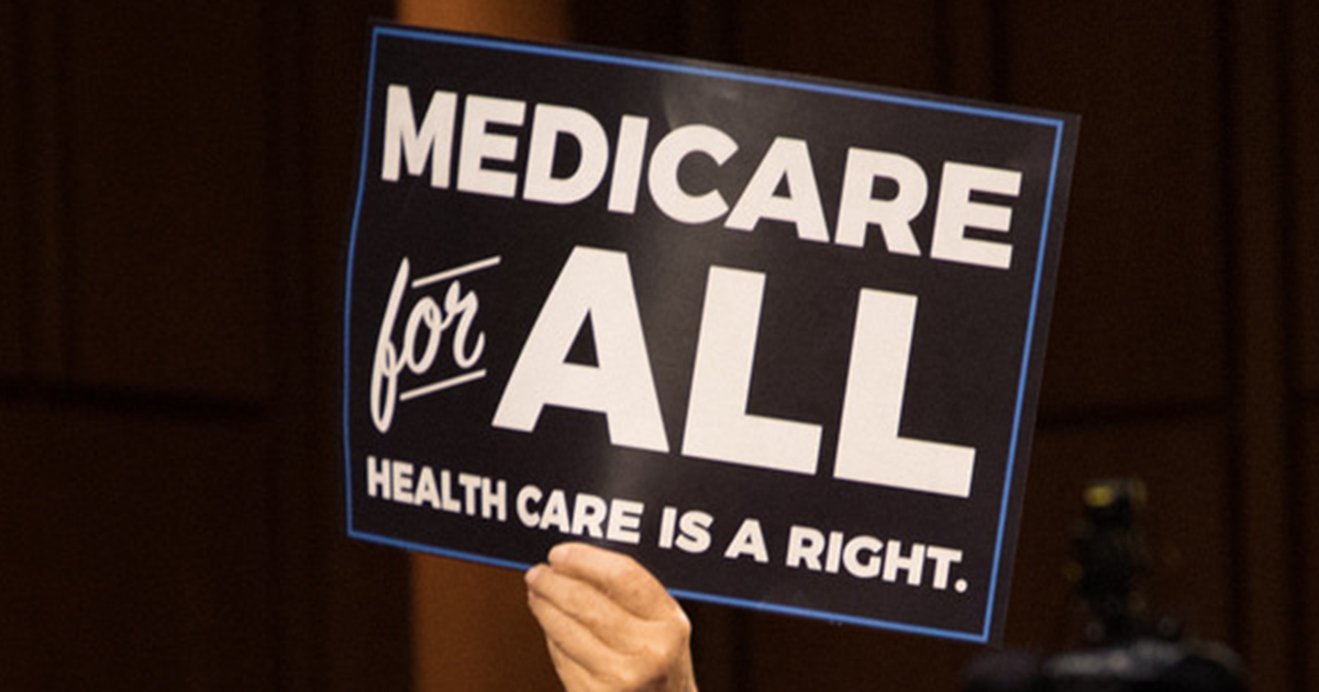 Sign saying Medicare for All Health Care Is A Right