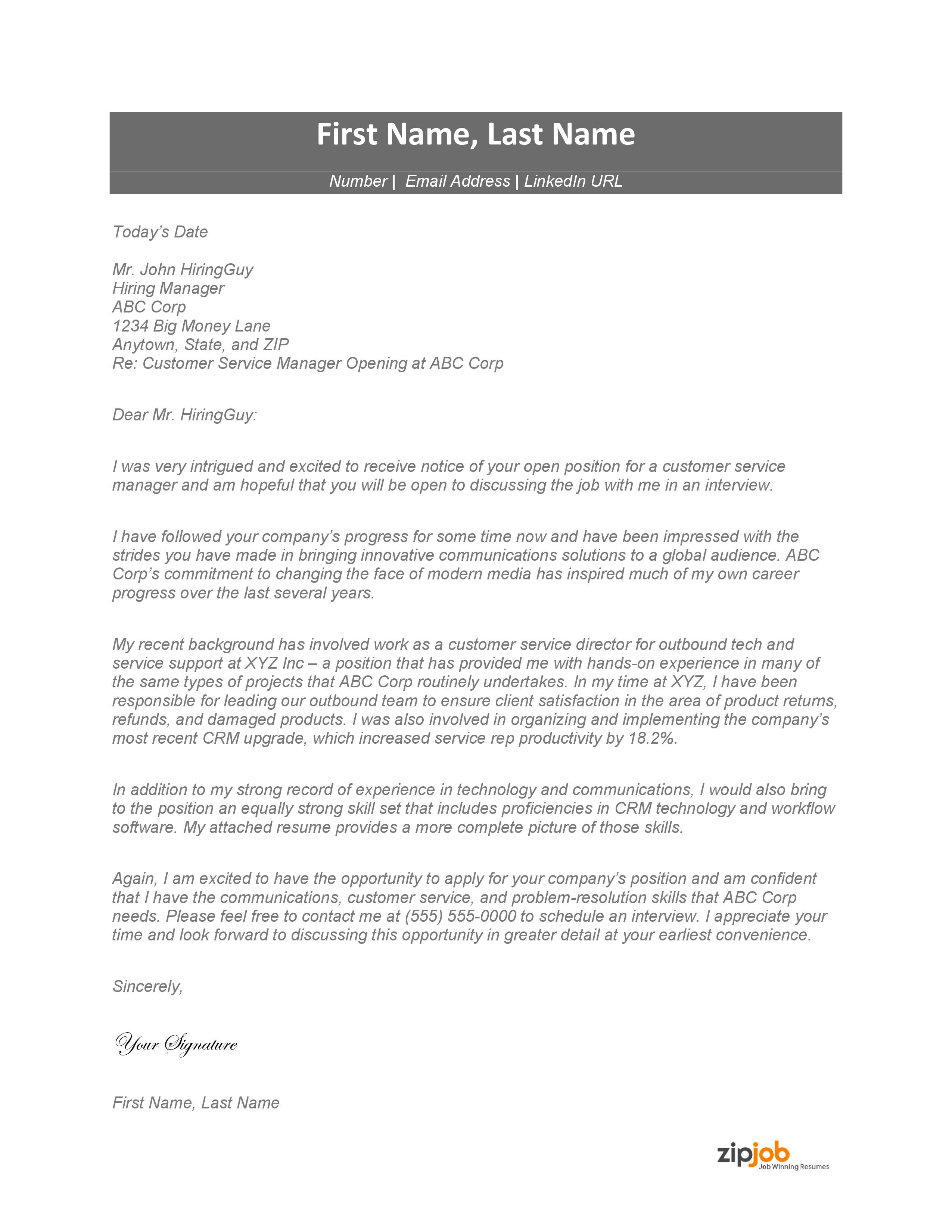 Here Is What A Good Cover Letter Looks Like In 2021 Zipjob