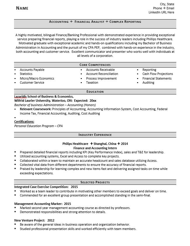 Entry level accounting graduate resume sample cover letter activities coordinator