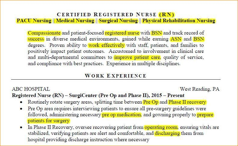 Example resume keyword cover letter for doctors job