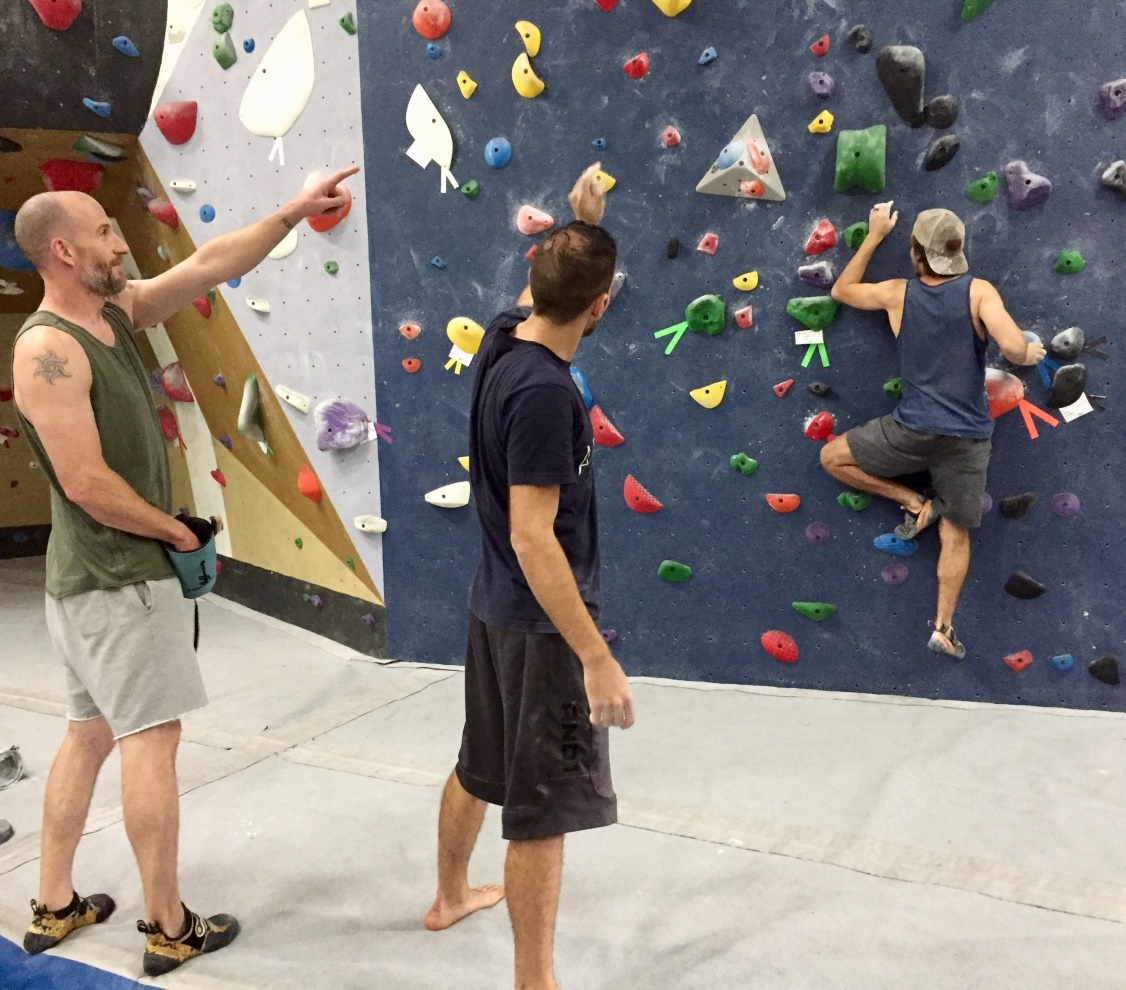 Rock Climber Doing Gentle Warm Up Climb
