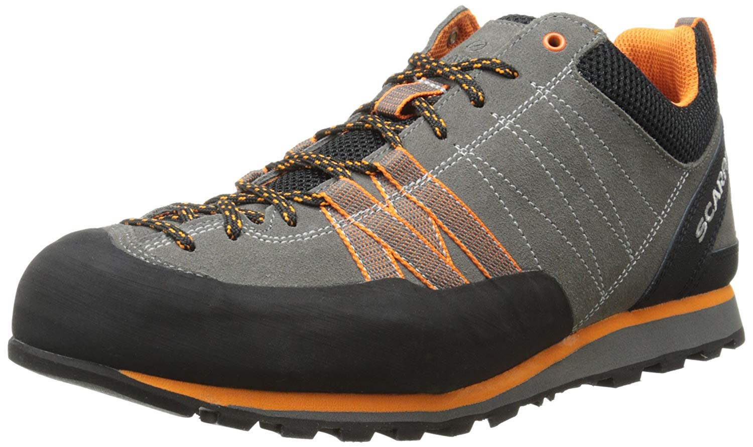 Scarpa Mens Crux Approach Shoes In Orange And Grey