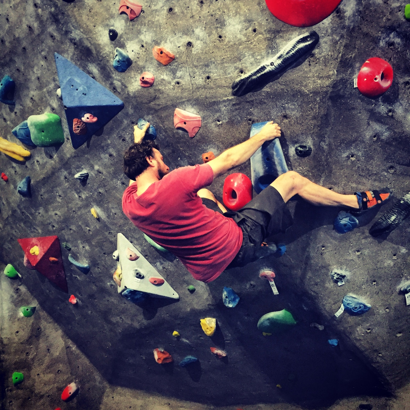 Male Climber Bouldering