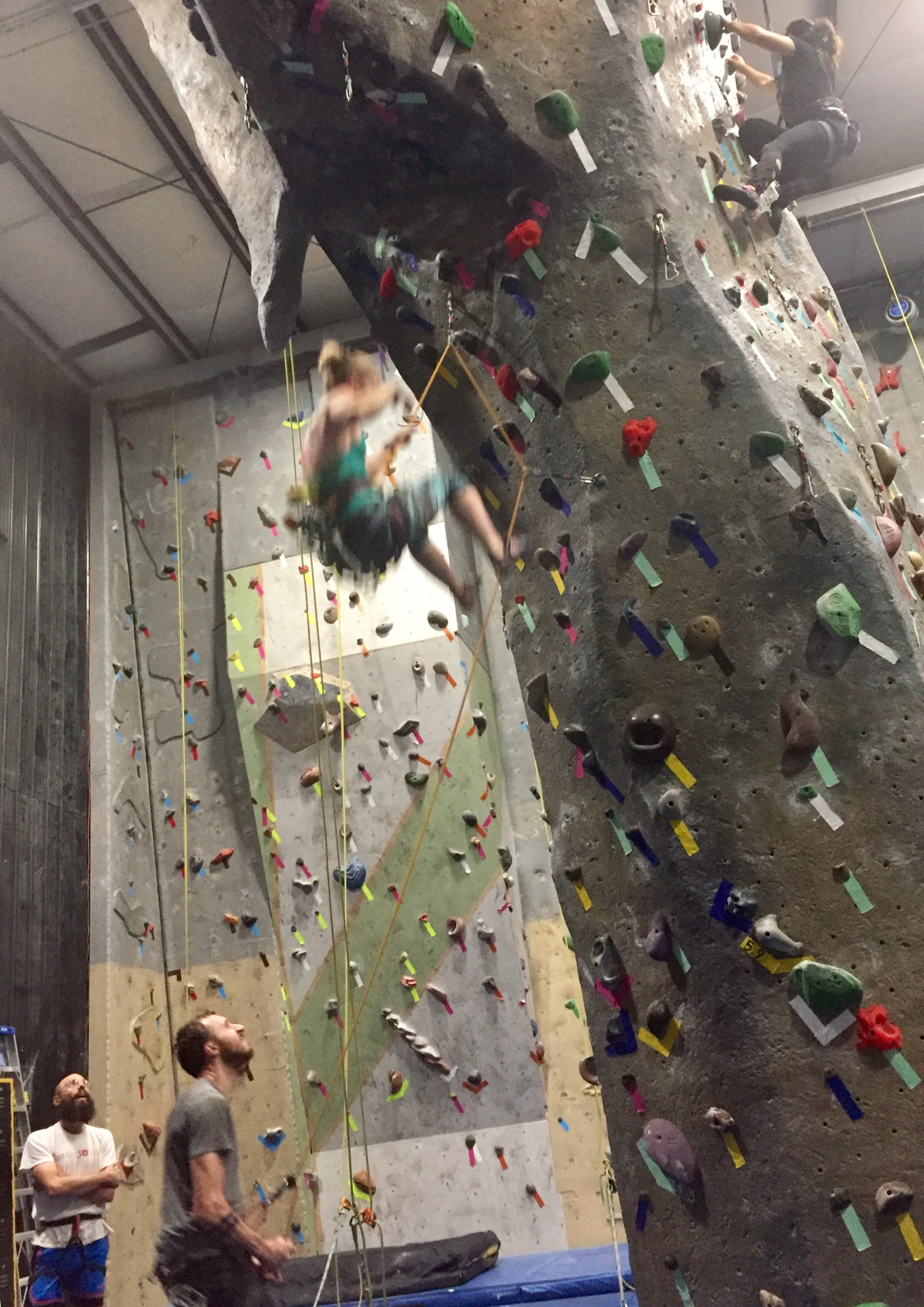 Female Climber Falling After Forced Fall