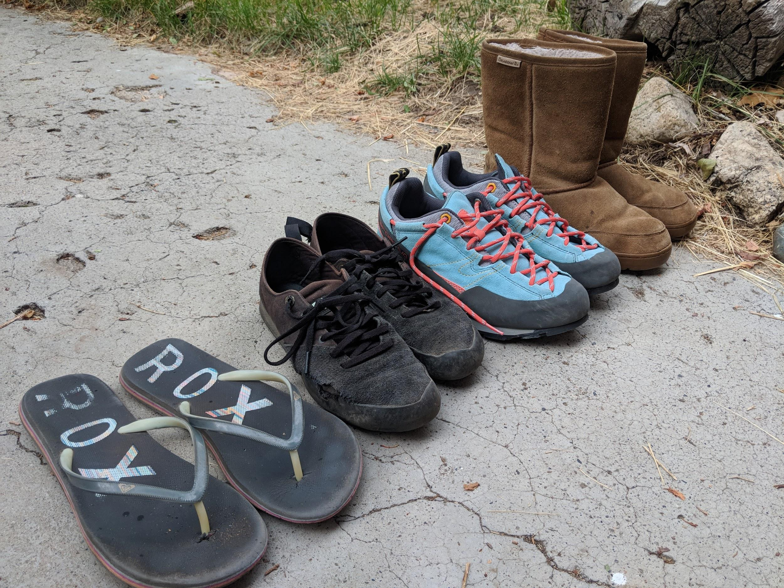 A Collection Of Approach Footware From Sandals To Ugg Boots