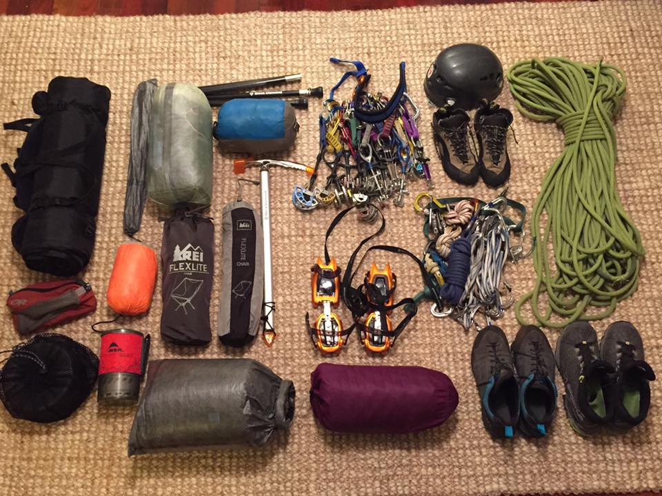 Essential Light Weight Alpine Climbing Gear