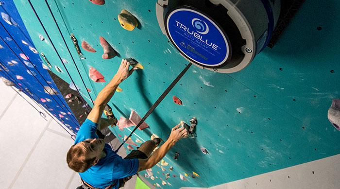 Male Climber Using Trublue Auto Belay