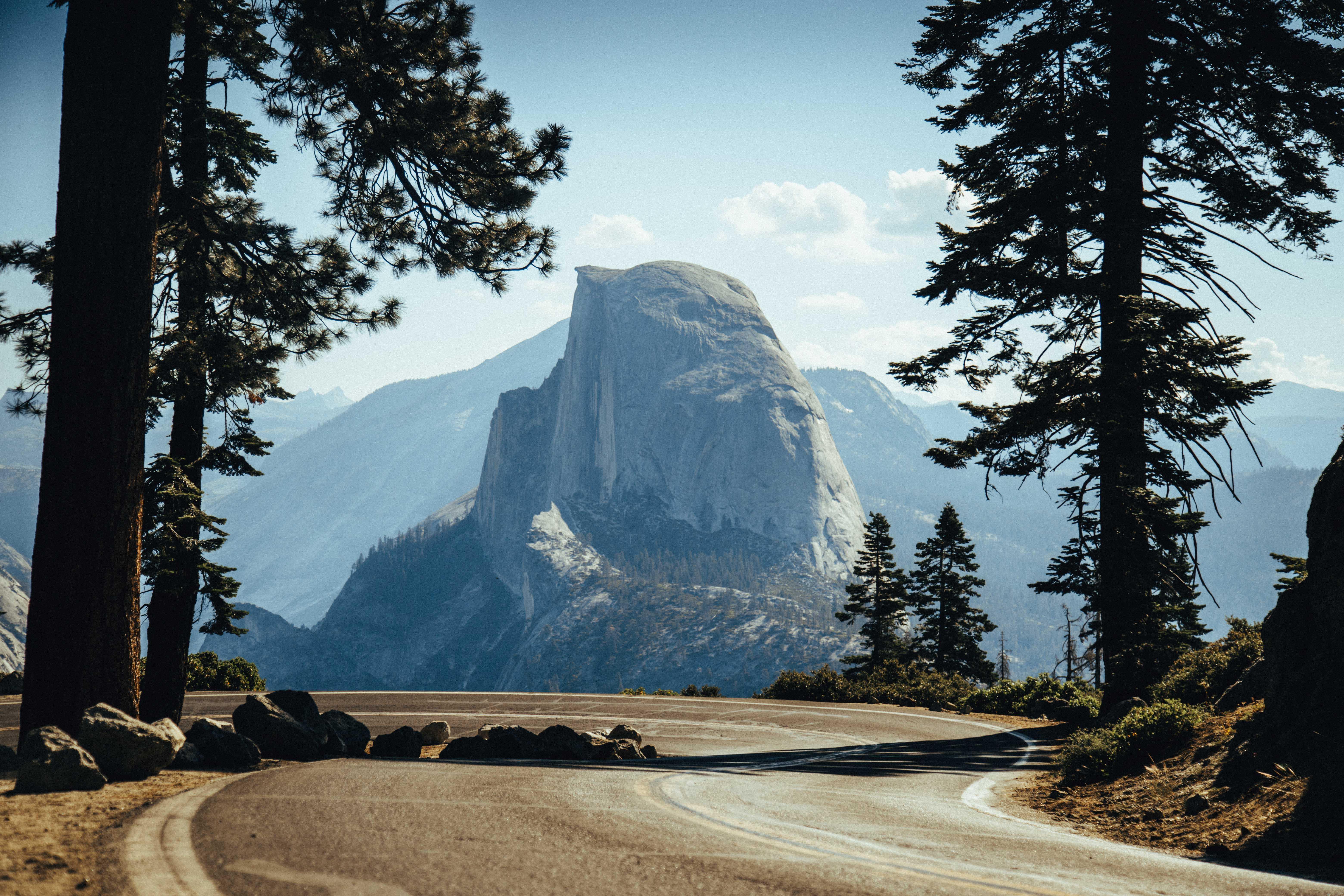 Yosemite Half Dome From Road