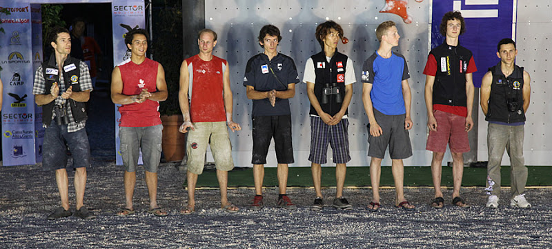 Male Elite Climbers Lineup Height Difference