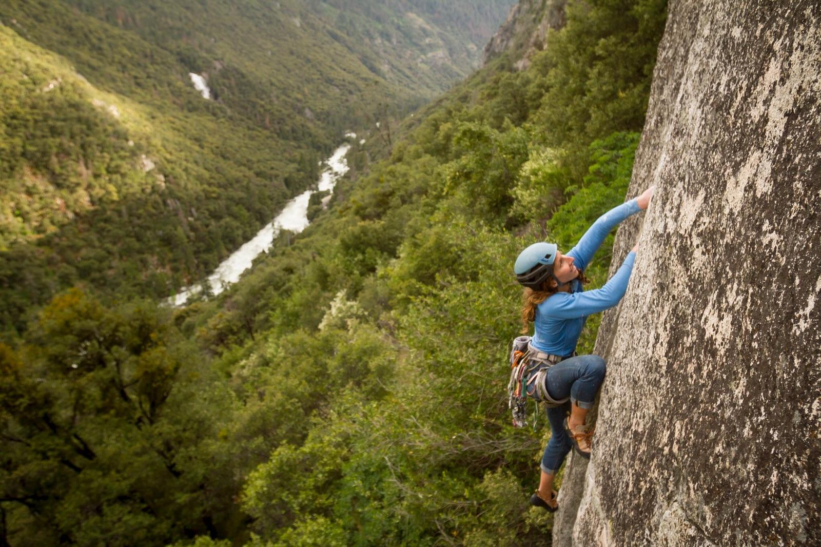 Alison Kaplan Rock Climbing