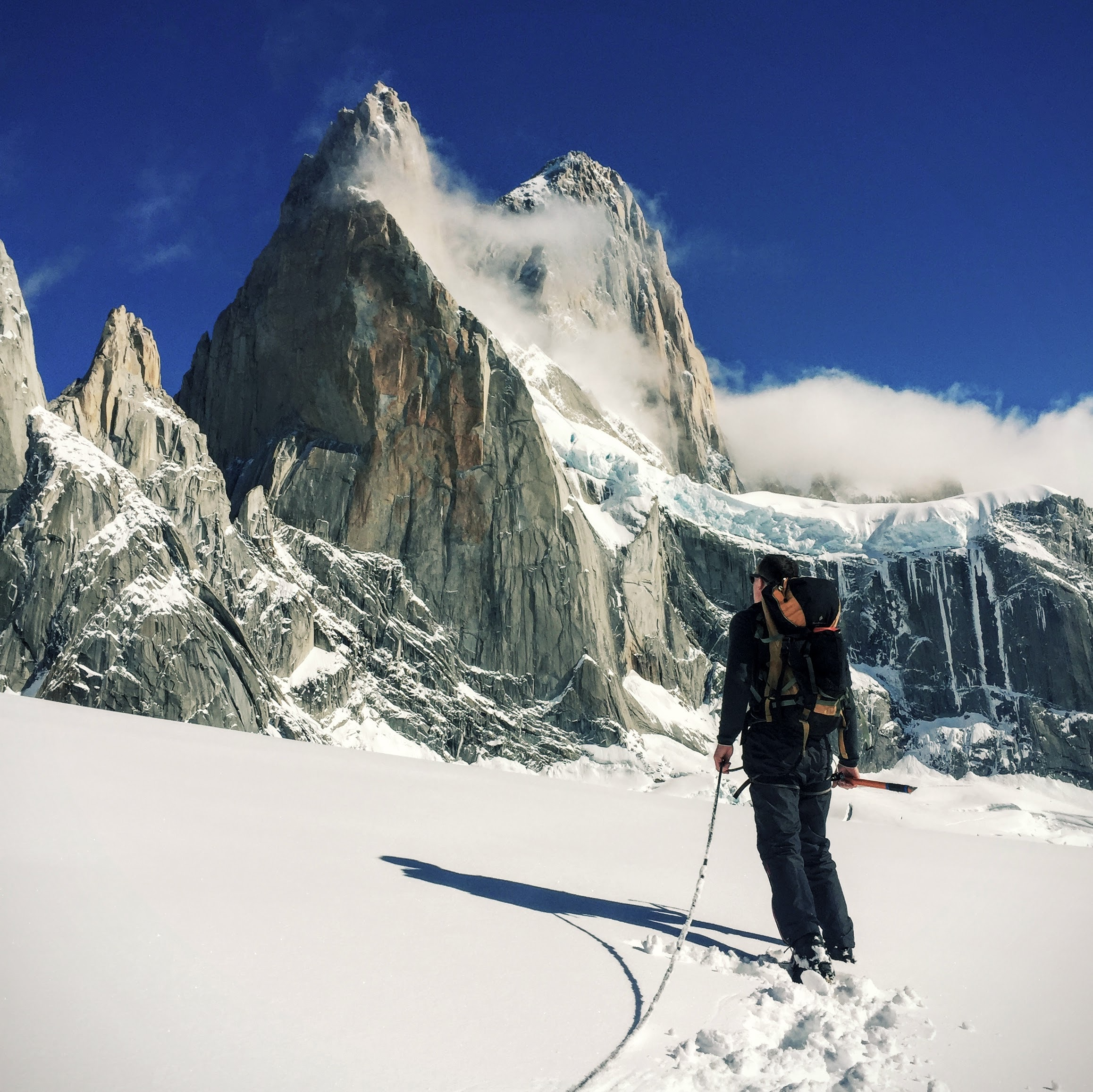 Male Climber Alpine Climbing